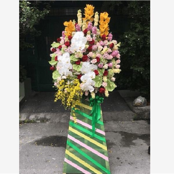 lời chúc khai trương tặng kèm hoa