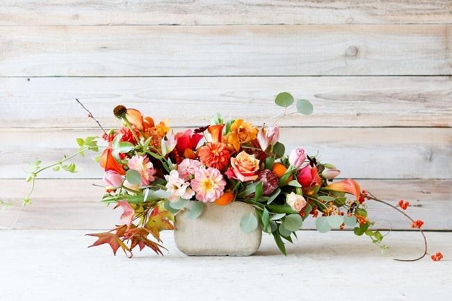 cách cắm hoa để bàn 2