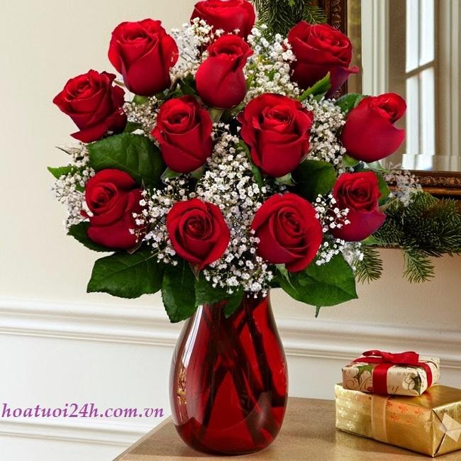 Cách cắm hoa hồng đỏ 2