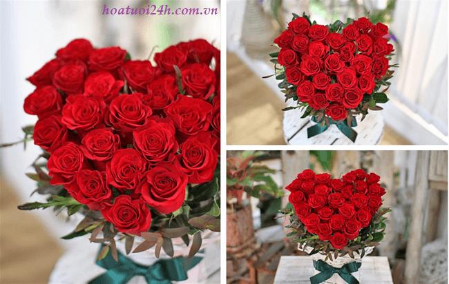 Cách cắm hoa hồng đỏ 1