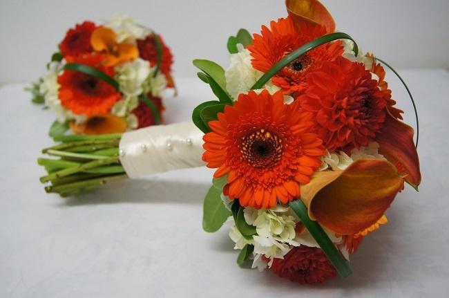 chọn hoa đồng tiền làm hoa cưới
