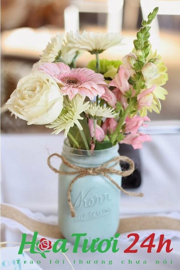 mách bạn cách trang trí hoa tươi