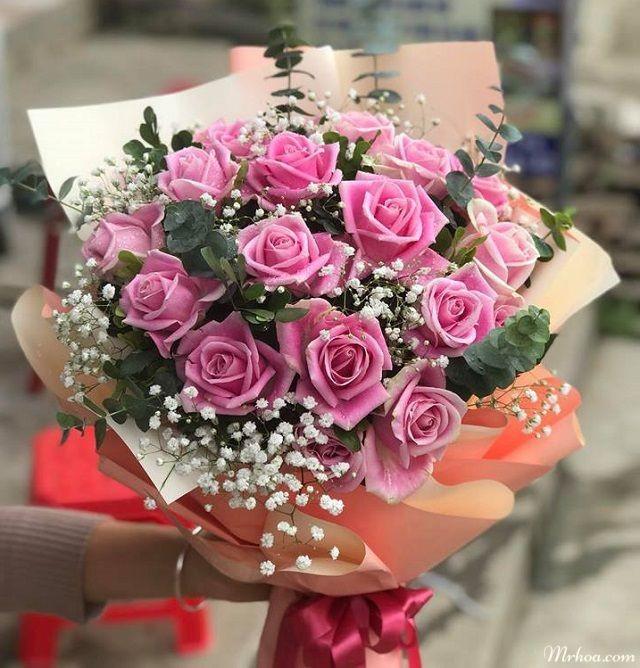 chọn hoa hồng sinh tặng quà sinh nhật cho bé gái