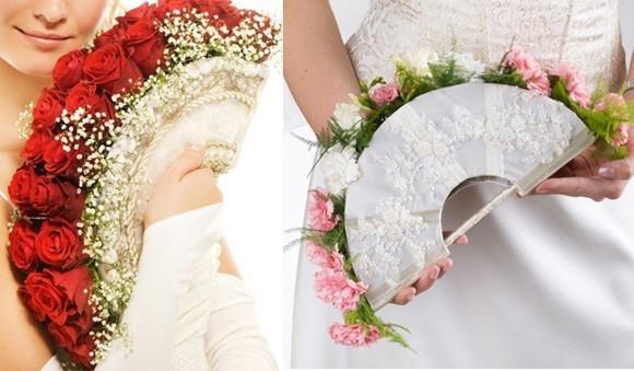Hoa cưới dạng quạt kiêu kỳ