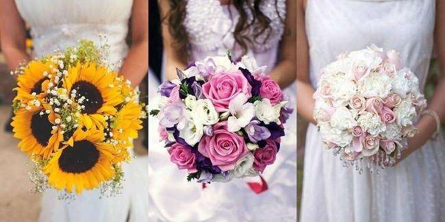 Hoa cưới dạng tròn