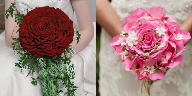 Hoa cưới to kết hợp từ nhiều cánh