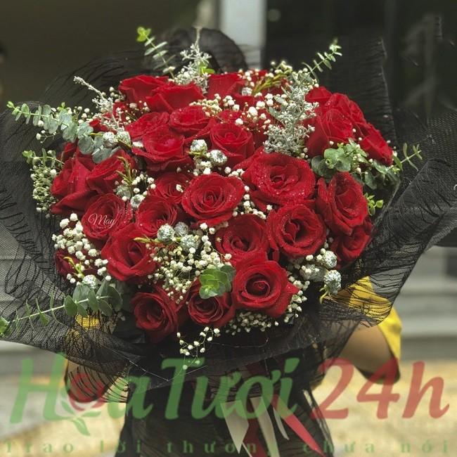 những bó hoa hồng đẹp nhất tại hoa tươi 24h