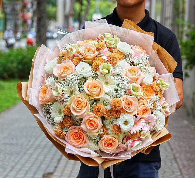 chọn hoa tươi tăng crush