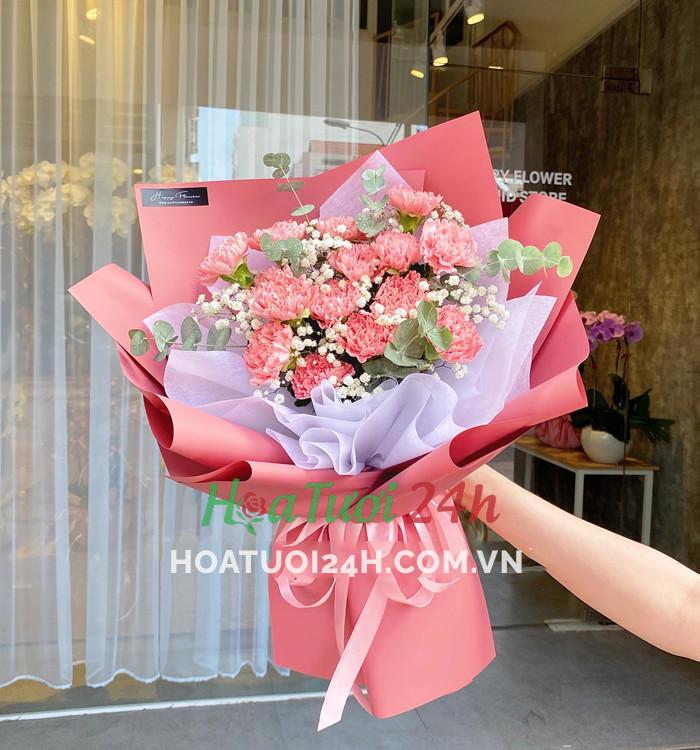 hoa cẩm chướng thể hiện cho sự bình an