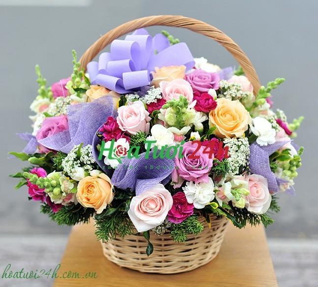 Cách phối màu trong cắm hoa